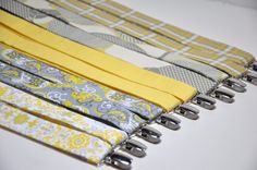 Yellow and Grey Suspenders for Your Wedding Party