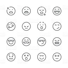 Smiley Face Vector Line Icon Set. Contains Such Icons As Happy, Cheeky, Emoji And More. Expanded Stroke Stock Vector - Illustration of black, cartoon: 135974106 Smile Face Tattoo, Face Tattoos, Red Ink Tattoos, Small Tattoos, Tatoos, Emoji Tattoo, Inspirational Quotes Background, Face Doodles, Cute Smiley Face