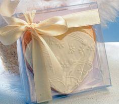 Corazón de novia, acabado en caja