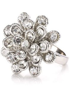 Sparkle flower ring? $14? Dreamy! This is for you sis!