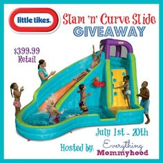 SavingSaidSimply.com - Little Tikes Slam N Curve Water Slide