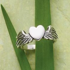 A simple heart flanked by open wings captures the feeling of love and the way the heart is lifted with every beat. Try pairing this design with our Let Love Soar Necklace to create a matching set. James Avery, Feeling Loved, Spring Collection, Pretty Little, Jewlery, Jewelry Accessories, Classy, Let It Be, Style Inspiration