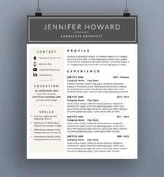 resume template cv template cover letter by theportfoliocompany