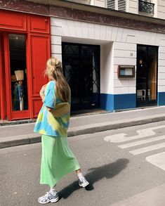 How to wear neon: neon slip skirt and tie dye t shirt dye shirts outfit summer Love Fashion, Fashion Outfits, Fashion Trends, Retro Fashion, Socks Outfit, Summer Outfits, Cute Outfits, Neon Outfits, Tomboy Outfits