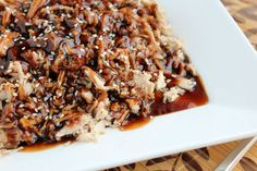 Slow cooker brown sugar pork loin with balsamic glaze. Perfect for Sunday dinner and the glaze is SO GOOD.