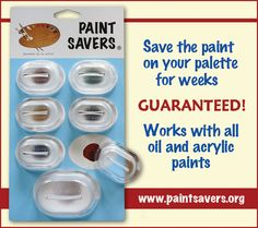 I just ordered some of these. What a great idea for keeping your oil or acrylic paints from drying out! Can't wait to try them.