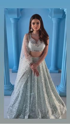 Indian Bridal Outfits, Indian Fashion Dresses, Indian Designer Outfits, Desi Wedding Dresses, Cute Prom Dresses, Ball Dresses, Party Wear Lehenga, Party Dress, Long Skirt Outfits