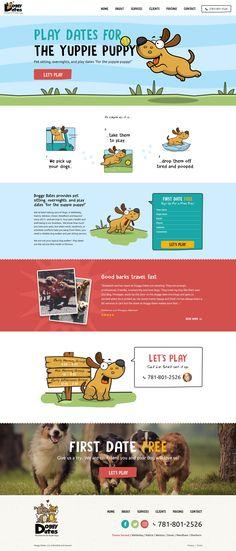 Design #61 by 2ché   Website Design for Fun Dog Daycare