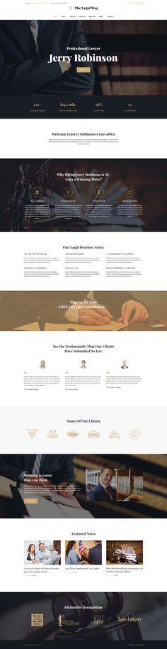 The Legal Way - Lawyer & Attorney WordPress Theme - Liz White Wordpress Theme, Wordpress Template, Web Wordpress, Website Design Inspiration, Wireframe, Business Design, Creative Business, Business Tips, Material Design Web