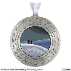 mountain snow ornament