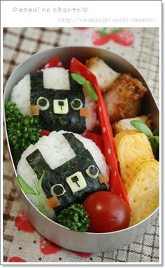 Square rabbit onigiri bento