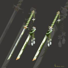 (CLOSED) Flower Katana weapon adopt auction 32 by Liowa.deviantart.com on @DeviantArt