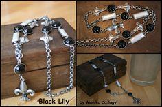 Black Lily - necklace