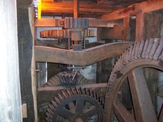 The wheels on the mill go round and round
