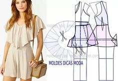"119 Beğenme, 5 Yorum - Instagram'da Fátima Carvalho Lopes (@moldes_dicas_moda): ""https://goo.gl/Kfk5X0 #modafeminina #moda2017 #modamujer #babado #macacao #patternmaking #patrones…"""
