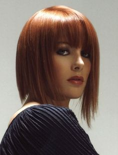 Medium bob hairstyles 2013 have served out the best and most stylish approaches of hair carriage by offering you not only the convenience of managing and styling but also a stock of fashion trend to relish and try. Medium Hair Styles For Women, Hair Styles 2014, Short Hair Styles, Medium Bob Hairstyles, Short Hairstyles For Women, Straight Hairstyles, Bob Haircuts, Pretty Hairstyles, Braided Hairstyles