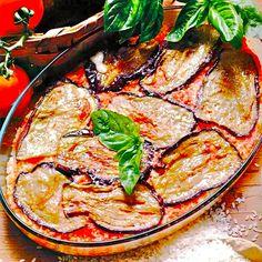 Melanzane alla Parmigiana (baked aubergine with tomatoes and parmesan cheese). Sophia Loren's favourite. Story on my blog:  https://ambradambra.wordpress.com/2015/03/31/eggplant-parmigiana-sophias-choice/