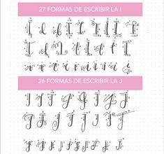 Little Hannah: lettering Lettering Guide, Creative Lettering, Lettering Tutorial, Brush Lettering, Hand Lettering Practice, Hand Lettering Alphabet, Calligraphy Letters, Cursive Letters, Bullet Journal Font