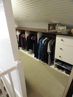 Angled Roofline Walkin Closet - contemporary - closet - new york - by Andrea Gary/Queen of Kerfuffle™