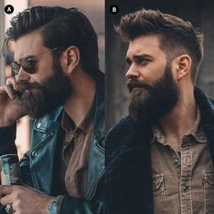 """4,024 Likes, 63 Comments - ✘✘ BEARDED LIFE STYLE ✘✘ (@beardedlife_style) on Instagram: """"A or B? Comment below  ____ -Model: @slackerblack ____ Tag us to be featured!! ✔ #menbeardstyles…"""""""
