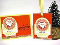 Holiday wishes card & tag by Heather Nichols for Papertrey Ink (October 2011).