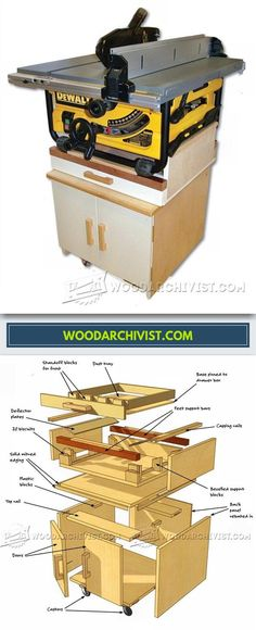 Mobile Table Saw Stand - Table Saw Tips, Jigs and Fixtures | WoodArchivist.com