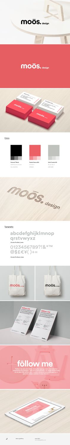 Moōs design identity on Behance