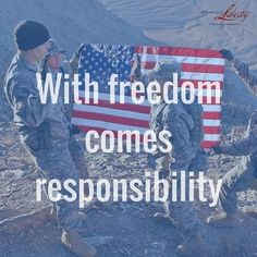 As American Citizens, we are lucky to have these men who understand their responsibility!