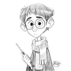 Harry potter art drawings sketches character design new ideas Harry Potter Sketch, Arte Do Harry Potter, Harry Potter Cartoon, Harry Potter Food, Harry Potter Drawings, Cartoon Sketches, Art Drawings Sketches, Disney Drawings, Easy Drawings