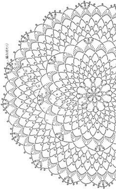 Crochet Dollies, Crochet Fabric, Crochet Tablecloth, Crochet Home, Thread Crochet, Crochet Scarves, Free Crochet Doily Patterns, Crochet Doily Diagram, Crochet Circles