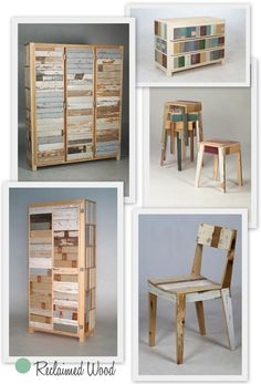 Reclaimed wood furniture #recycle