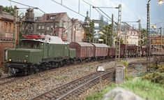 with a freight train / mit einem Gueterzug Model Train Layouts, N Scale, Model Trains, Military Vehicles, Inspiration, Models, N Scale Trains, Dioramas, Train