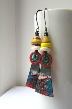 Nadelrad  handgefertigte Ohrringe mit von somethingtodo auf Etsy