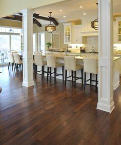 distressed hickory hardwood flooring ~like this floor