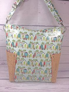Your place to buy and sell all things handmade Laminated Cotton Fabric, Aqua Background, Cork Fabric, Fabric Samples, Hang Tags, Purses And Handbags, Decorative Boxes, Tote Bag, Handmade