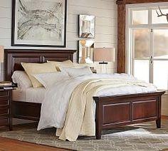 Mahogany Bedroom Furniture & Hudson Bedroom   Pottery Barn