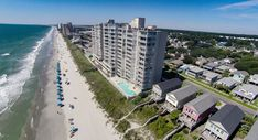 A view of One Ocean Place in Garden City Beach, SC. Garden City Beach, Surfside Beach, Beach Vacation Rentals, Real Estate Sales, Beach Photography, Sunrise, Ocean, Water, Places