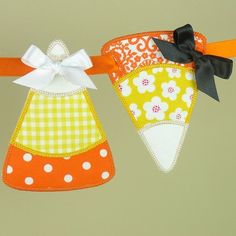 Candy Corn Banner ITH Project Applique by BigDreamsEmbroidery $4.95