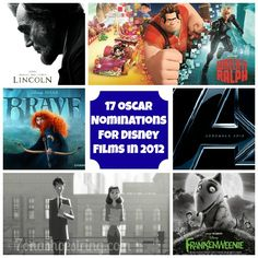 17 Oscar Nominations for Disney Films in 2012