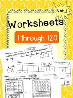 """This is """"dreamy"""" product. There are 28 pages for counting practice. They start off with lower numbers and become increasingly challenging. The sheets are clearly labeled so you can pick exactly what you need. Each level comes with more than one sheet. Includes counting on number lines, hundreds chart, and counting objects. Perfect for differentiating instruction in small groups and in math centers. Also available in a """"flashcards/worksheet"""" bundle."""