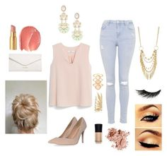 """""""Formally casual """"Nude flare"""""""" by courtneycrave on Polyvore"""