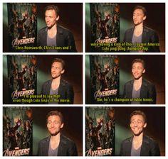 Tom Hiddleston/Loki the King of Ping Pong!