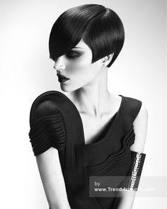 HOB SALONS Schwarz weiblich Kurze Gerade Frauen Frisuren hairstyles