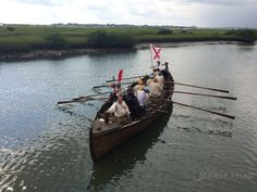 "Pedro Menendez re-enactment in a boat built specifically for the occasion. ""The Chalupa"""