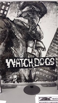 Local video game store has this up. An employee drew it with nothing but black dry erase marker - #WatchDogs Video Game News, Video Game Art, Art Watch, Got Game, Fun Hobbies, Ps4 Games, Playstation, Xbox, Marker
