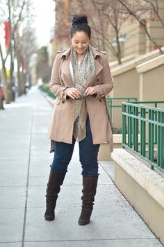 This neutral outfit is great for Spring!