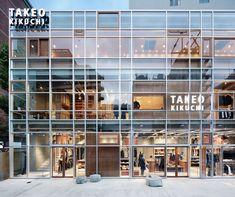 Takeo Kikuchi flagship store by Schemata Architects, Tokyo store design Cubic Architecture, Retail Architecture, Cabinet D Architecture, Commercial Architecture, Shopping Mall Architecture, Retail Facade, Shop Facade, Building Facade, Building Design
