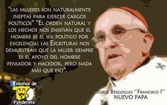 ¿Qué os parece cómo piensa el nuevo Papa?    Síguenos en Facebook: http://facebook.com/HumorDePandereta