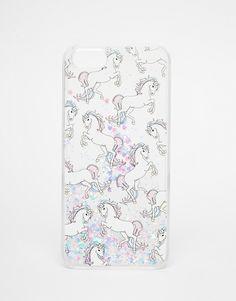 Image 1 - Skinny Dip - Étui pour iPhone 5 motif licornes à paillettes argentées effet liquide