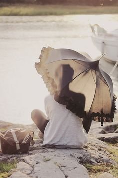 under the #parasol at the beach...